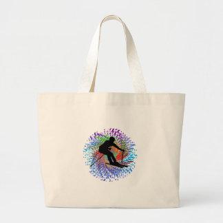 Downward Spiral Large Tote Bag