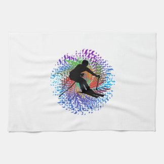 Downward Spiral Tea Towel