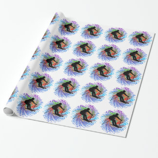 Downward Spiral Wrapping Paper