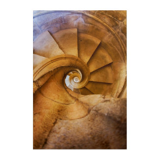 Downward spirl staircase, Portugal Acrylic Print