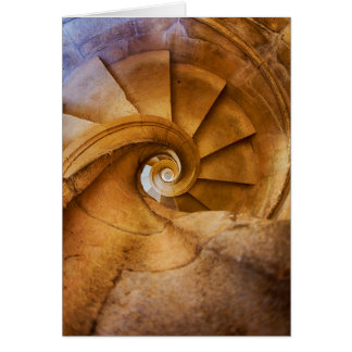 Downward spirl staircase, Portugal Card