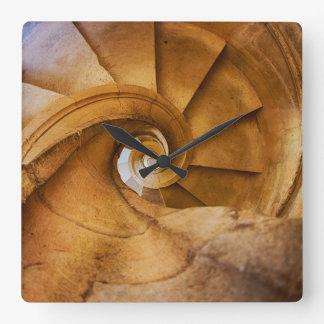 Downward spirl staircase, Portugal Square Wall Clock