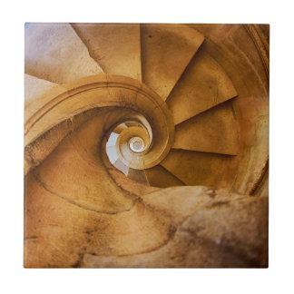 Downward spirl staircase, Portugal Tile
