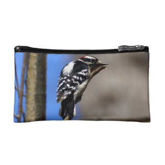 Downy Woodpecker Cosmetic Bag