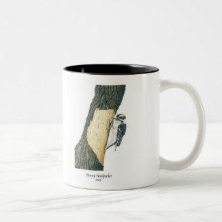 Downy Woodpecker (Male) Two-Tone Coffee Mug