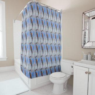 Downy Woodpecker Pattern Shower Curtain
