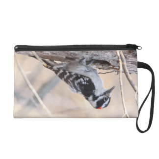 Downy Woodpecker Wristlet Clutch