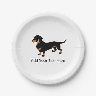 Doxie Dog Love - Cute Little Dachshund 7 Inch Paper Plate
