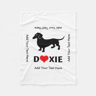 Doxie Dog Love - Cute Little Dachshund Fleece Blanket