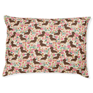 Doxie Floral - mint Pet Bed