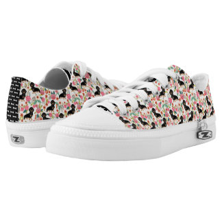 Doxie Floral shoes - dog florals