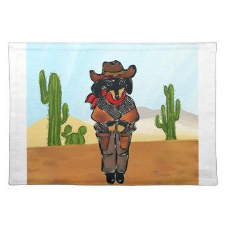 Doxie Gunslinger Placemat