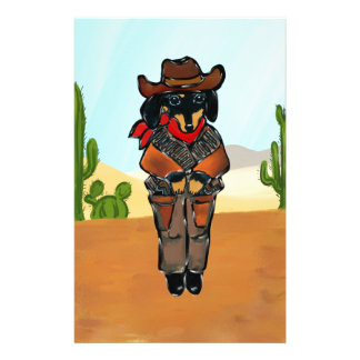 Doxie Gunslinger Stationery