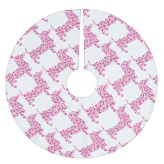 DOXIE-Hearts Brushed Polyester Tree Skirt