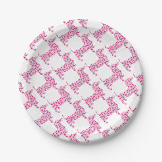 DOXIE-Hearts Paper Plate