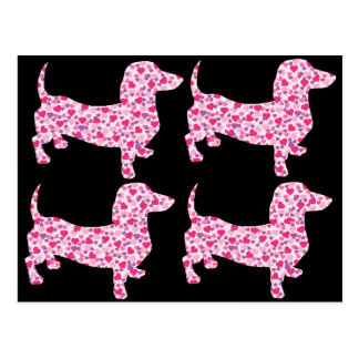 DOXIE-Hearts Postcard