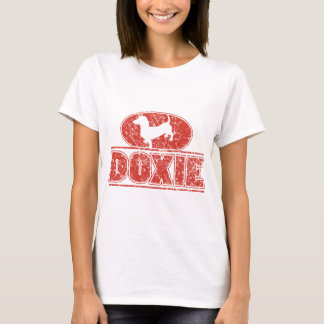 DOXIE-in-Circle-Distressed T-Shirt