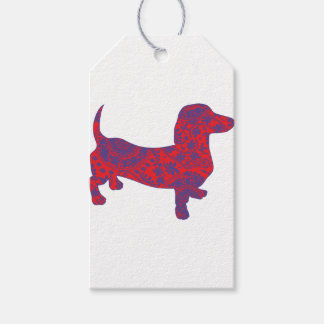 Doxie in Reniassance-Pattern Gift Tags