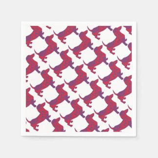Doxie in Reniassance-Pattern Paper Napkin