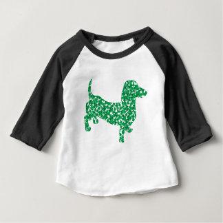 Doxie-in-Shamrocks Baby T-Shirt