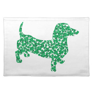 Doxie-in-Shamrocks Placemat