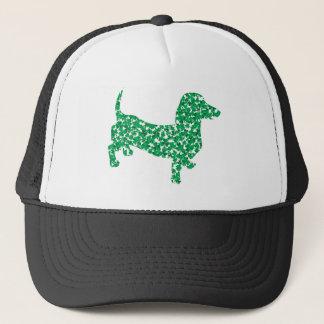 Doxie-in-Shamrocks Trucker Hat