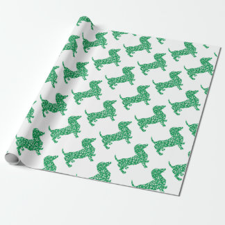 Doxie-in-Shamrocks Wrapping Paper