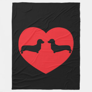 Doxie Love Fleece Blanket