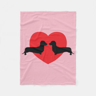 Doxie Lover Fleece Blanket