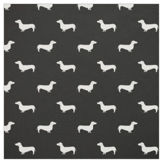 Doxie Silhouette Dog fabric - dachshund fabric