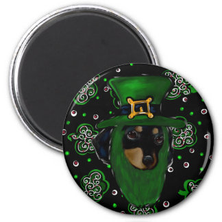 Doxie St. Patty Magnet