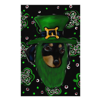 Doxie St. Patty Stationery