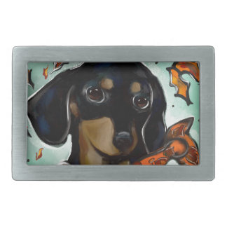 Doxie Thanksgiving Belt Buckle