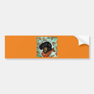 Doxie Thanksgiving Bumper Sticker