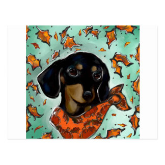 Doxie Thanksgiving Postcard