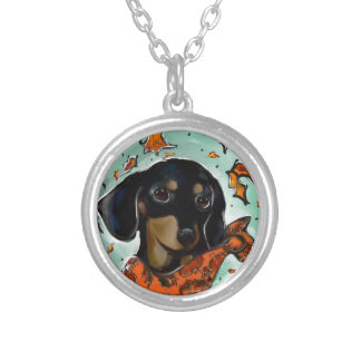 Doxie Thanksgiving Silver Plated Necklace