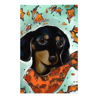 Doxie Thanksgiving Stationery