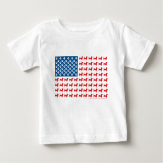 Doxie-USA-FLAG-for-Darks Baby T-Shirt
