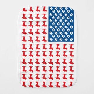 Doxie-USA-FLAG-for-Darks Burp Cloth