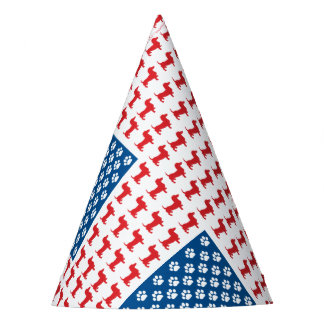Doxie-USA-FLAG-for-Darks Party Hat