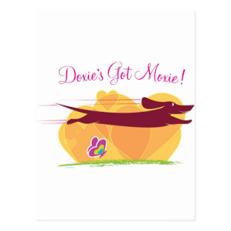 Doxie's Got Moxie Postcard