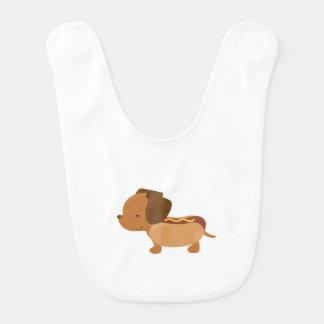 DoxyBox Hot Dog Baby Dachshund Bib