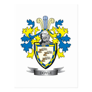 Doyle Coat of Arms Postcard