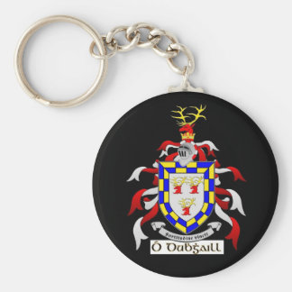 Doyle Crest/ Coat of Arms Basic Round Button Key Ring