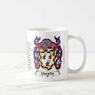 Doyle Family Coat of Arms Mug