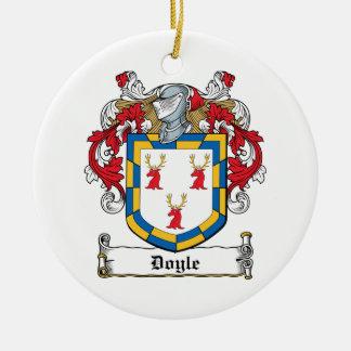 Doyle Family Crest Round Ceramic Decoration