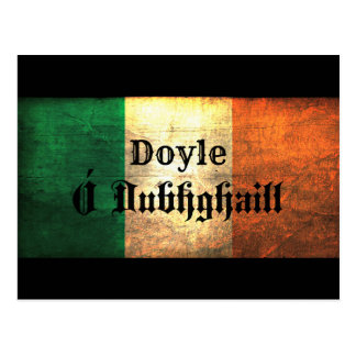Doyle Irish Flag Postcard