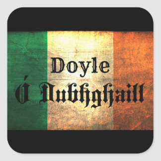 Doyle Irish Flag Square Sticker