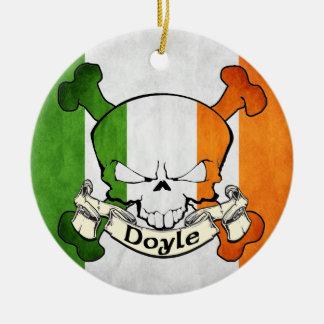 Doyle Irish Skull Round Ceramic Decoration