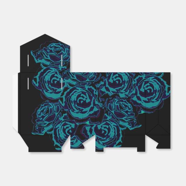 dozen blue roses ribbon favour box zazzle